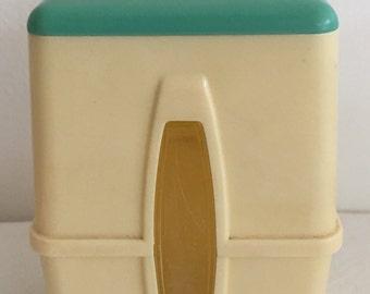 Retro Vintage Kitchen Cannister Walter Barr Clear Vue  Kitchen Cannister Small Size Cintage Kitchen Cannister