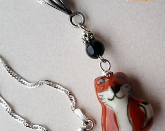 Little red fox pendant