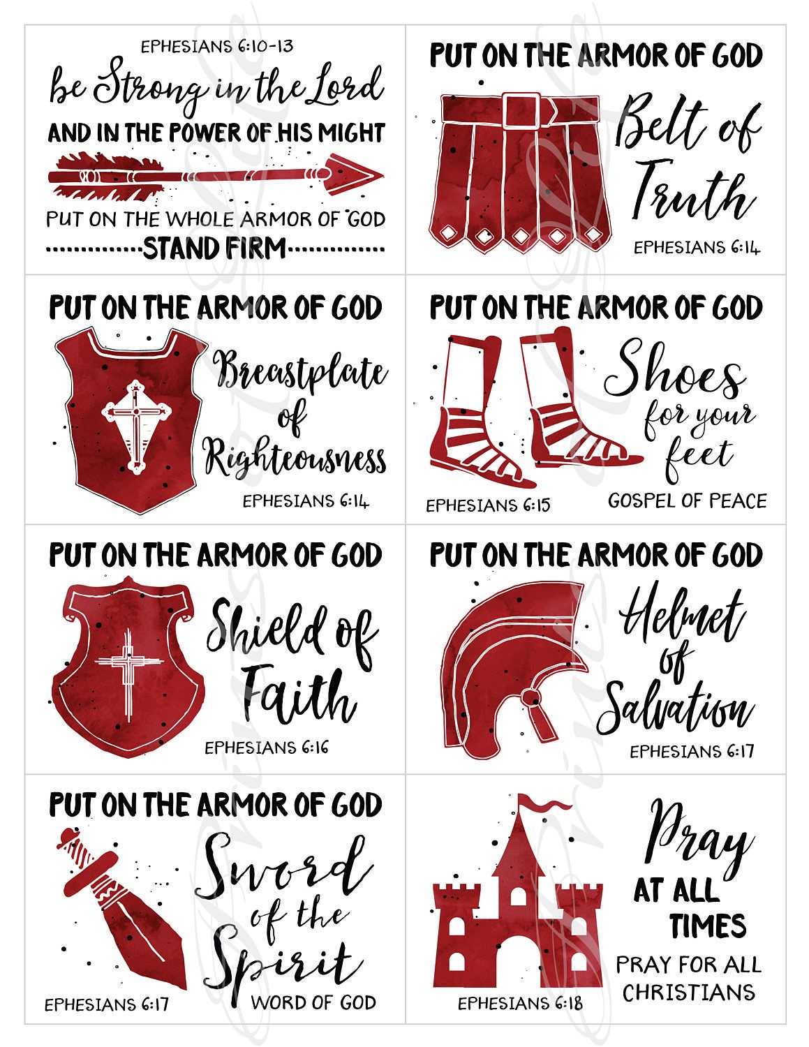 lunch box notes set 9 boys scripture instant download printable