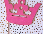 Pink Crown Photo Booth Prop,  Wedding Photo Booth Sign, Photo Booth Props Graduation, Photo Booth Props Prom, Wood Signs with Sayings