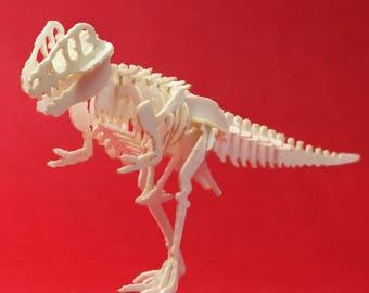 True Rex Tiny Dinosaur Skeleton Bare Bones - Paper Puzzle Sculpture Model