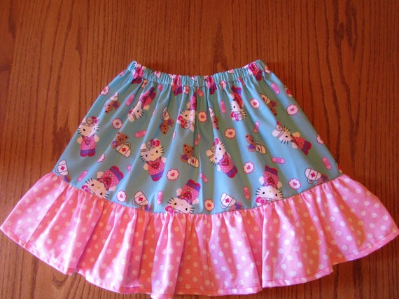 Hello kitty skirt/size 6 ready to ship and on sale/girls skirt/Hello kitty gift/Hello Kitty Birthday/Hello Kitty birthday skirt/girls gift