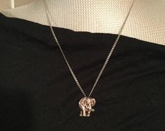 Huge Sale: Vintage 1920s Estate Silver Elephant Necklace Restored by Hand