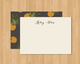 SIMPLY SCRIPT & PINEAPPLE Wedding/Thank You Note/Personal Stationery
