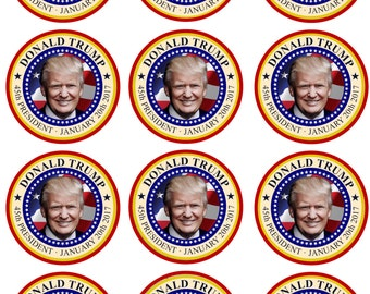 Donald Trump Edible Image Cupcake Toppers