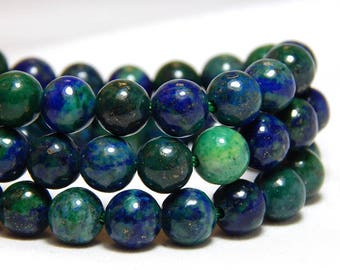 6mm Chrysocolla, Earthy Beads, Chrysocolla, 6mm Blue Beads, 6mm Green Beads, 6mm Gemstones, Blue Gemstones, 6mm Beads, Full Strand, B-26C
