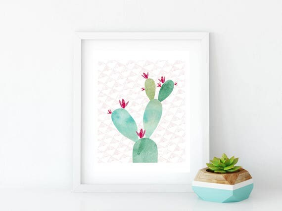 Cactus Printable, Printable, Tickles Art Print, Art Print, Wall Art, Wall Decor, Succulent, Cactus, Cacti, Prickly Pear Cactus, Prickly Pear