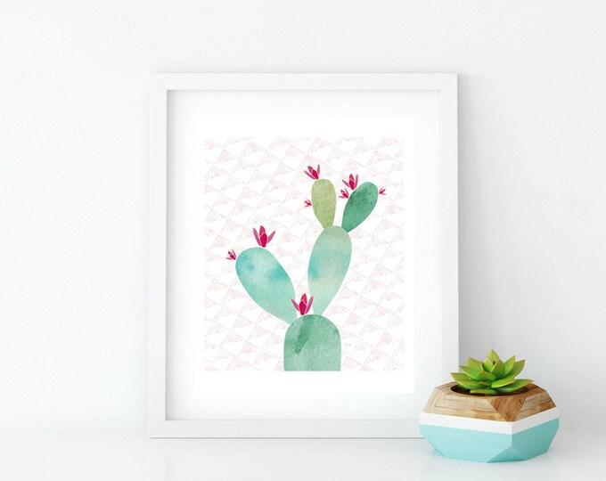 Cactus Printable, Printable, Tickles Art Print, Art Print, Wall Art, Wall Decor, Succulent, Cactus, Cacti, Prickly Pear Cactus, Prickly Pear