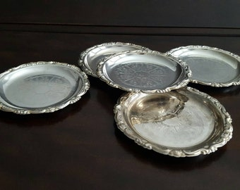 Silverplated Coasters S/5