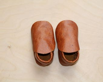 Mule Leather Moccasin Booties