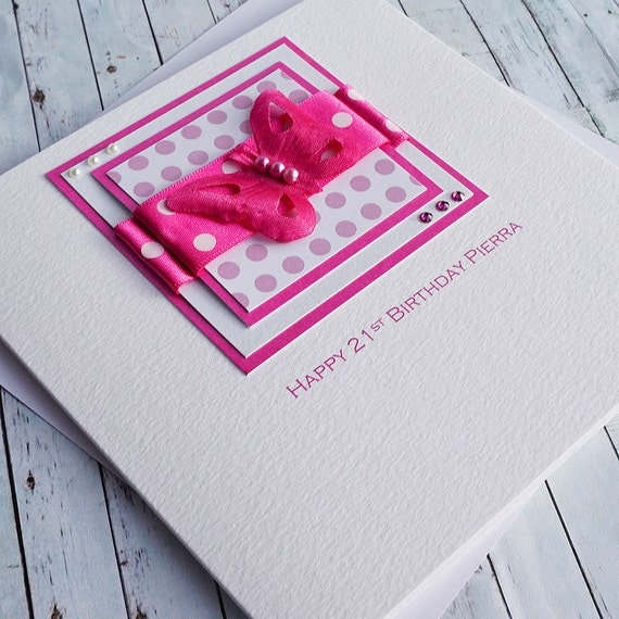 Handmade 21st Birthday Card for Daughter Sister Niece – Sister 21st Birthday Card