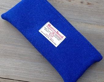Blue harris tweed pencil case pencil pouch desk storage student