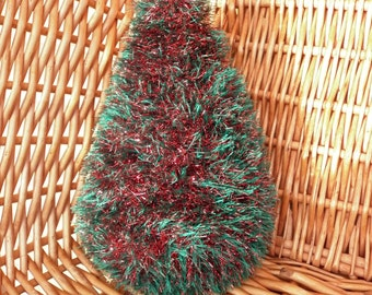 A Tinsel Christmas Tree Table Ornament which is ready to ship.