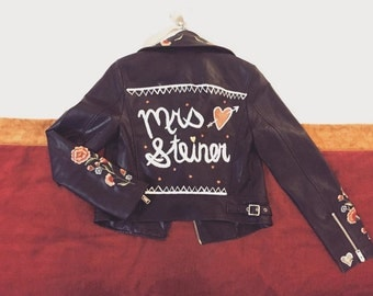 Customized Hand Painted Jacket
