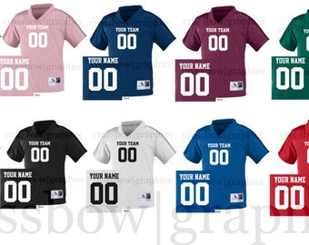 CUSTOM YOUTH Football Jersey ANY Color Personalized Numbers Name & Team!