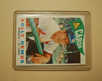 TOPPS- Baseball Card-1960-Solly Hemus--First Yr as Full TIME mgr- Set Break Card---Estate-VG Topps # 218