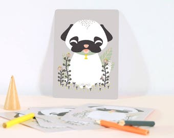 Card - Les Animignons :  the Dog