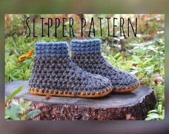 Crochet slipper pattern, slipper pattern, crochet pattern
