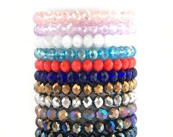 Glass stacker bracelet