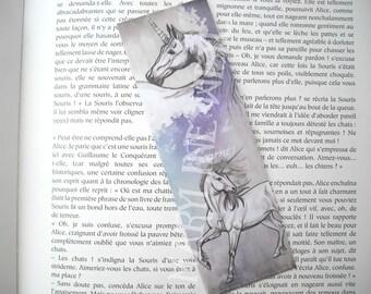 pretty white and lilac Unicorn bookmark