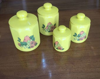 Kromex aluminum canister set of 4 kitchen canisters vintage kitchen storage canisters
