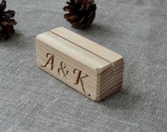 10 Personalized Wood Place Card Holders for Weddings, DIY Rustic Number Holders, Custom Cafe or Restaurant Menu Holder, Business Card Holder