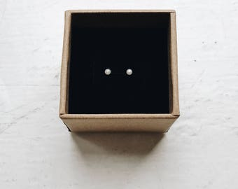 Birthday gifts for girls, Kids earrings, 2mm stud earrings, Gold earrings for kids, Tiny pearl studs