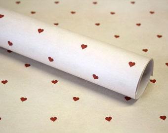 3 x gift paper heart 50 x 70