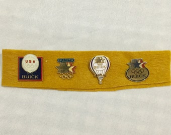 4 Los Angeles 1984 Olympic Pins Buick Cars Automobiles