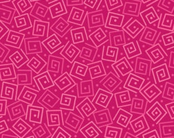 Squares - Azalea Pink 24779-P by Quilting Treasures Cotton Fabric Yardage