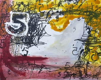 Original Abstract Acrylic Painting bold statement