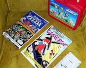 RESERVED for Brian Dunne - Retro/Vintage NINTENDO Luchbox, Gameboy & (2) Magazines