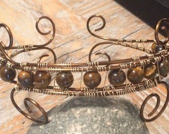 Wire Wrapped Beaded Arm Band