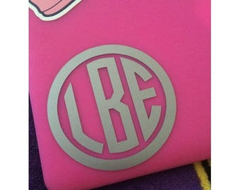 Monogram or Greek Letter Decal Several Sizes Available