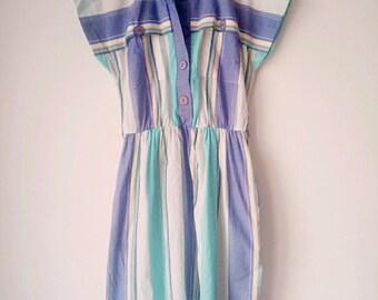 SALE Vintage cotton stripes dress