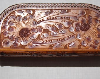 Vintage Tooled Leather Case circa the 40's