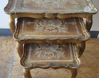 Sale - Vintage Italian Florentine Nesting Tables