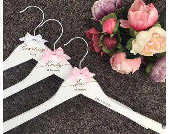 White Swish Engraved Hangers