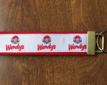 Wendy's Key Chain Wristlet Zipper Pull