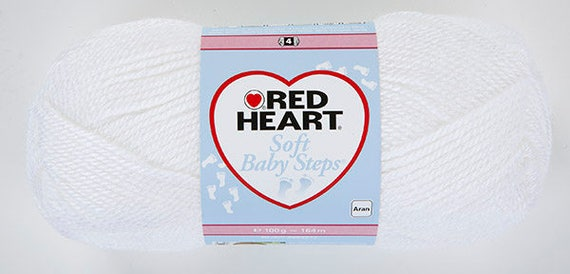 Red Heart Soft Baby Steps - White