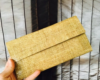Canvas Duct tape clutch wallet