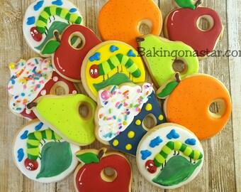 12 gourmet sugar cookies: The Hungry Caterpillar