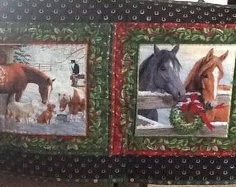 Western Christmas bedrunner, table runner,
