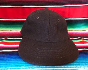 J. Crew Strapback Brown Blank wool hat