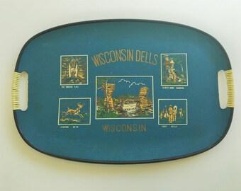 Vintage Wisconsin Dells Souvenir Tray