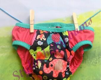 Size LARGE girls pink elephant training underwear cloth pull ups- FREE SHIPPING