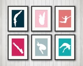 Frauen Tauchgänge Kunst, Schwimmen, Geschenke, schwimmen Dekor, Dive Wandkunst, Mädchen-Sport-Raum-Dekor