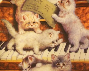 "1998 ""Making Music"" Kitty Plate by Jurgen Scholz"