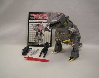 Transformers G1 Grimlock 1984 Near Complete Missing one missile only
