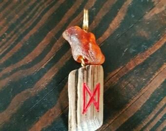 Norse rune amulet asatru necklace